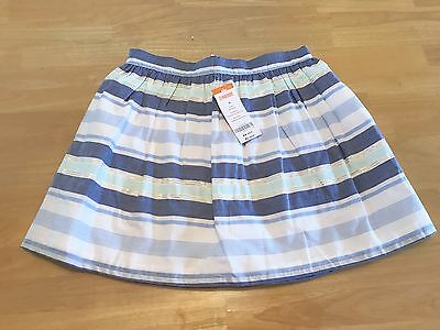 Gymboree - Blue Striped Cotton Skirt - Size 10 - NWT