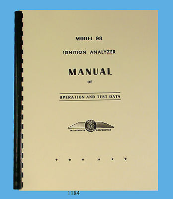 Merc-O-Tronic Ignition Analyzer Model 98 Operation & Data Manual Latest Revision