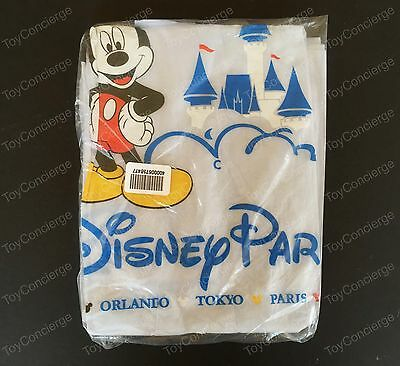 DISNEY Parks RAIN PONCHO for KIDS Plastic MICKEY MOUSE One Size NEW