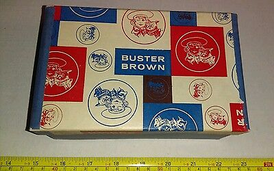 Vintage Buster Brown Child's Shoes Advertising Box ONLY Great Graphics Rare