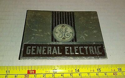 Vintage General Electric GE Advertising Small Plate Sign Rare
