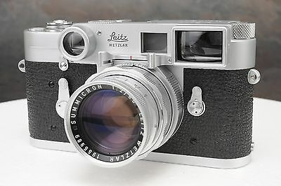 :Leica M3 SS 35mm Rangefinder Camera Kit w 50mm F2 Summicron DR Lens & Case EX++