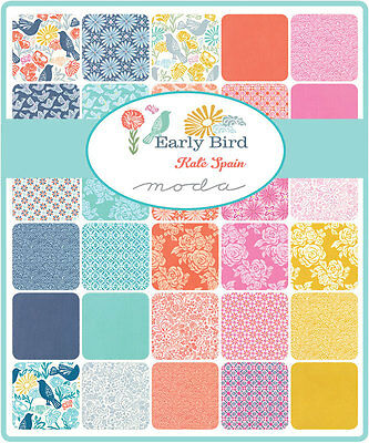 Patchwork/quilting Fabric Moda Charm Squares/packs - Early Bird