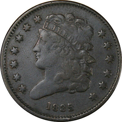 1835 Classic Head Half Cent *** Find to Very Fine Condition***