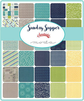 Patchwork/quilting Fabric Moda Charm Squares/packs - Sunday Supper