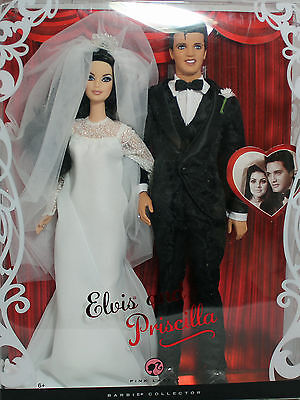 Elvis and Priscilla Barbie 2008, Mint NO BOX - 54745