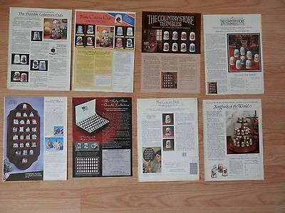 Lot of 8 Print Ads, Thimble Collections