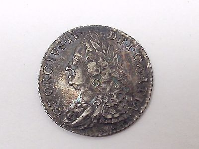 1758 GREAT BRITAIN KING GEORGE II 1 Shilling Silver Coin Make Offer