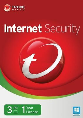 Trend Micro Internet Security 2020 Antivirus 3 User 1 Year PC Mac Windows 7 8 10