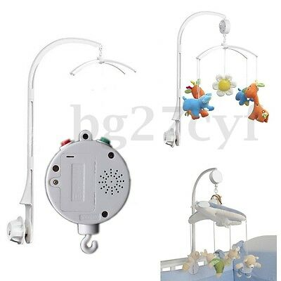 ABS Baby Crib Mobile Bed Bell Holder Arm Bracket 12 Melodies Auto Music Box