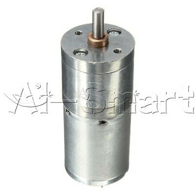 New Motor Speed Reduction Gear Motor Electric 12V DC 60RPM Powerful Torque 25mm