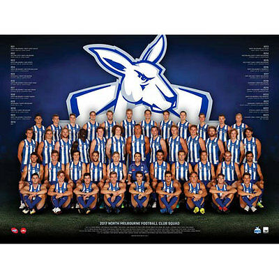 AFL 2017 Team North Melbourne Kangeroos POSTER 60x80cm NEW Aussie Football