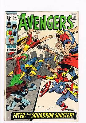 Avengers # 70 When Strikes the Squadron Sinister ! grade 4.5 scarce book !!