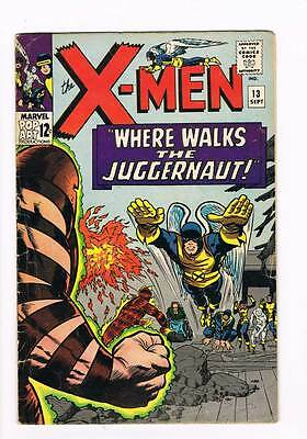 X-Men # 13  Where Walks the Juggernaut !  grade 4.5 scarce book !