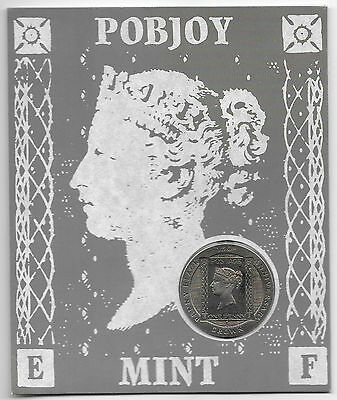 Isle of Man Penny Black Stamp 1990 Cupro Nickel 1 Penny Coin in a Pack