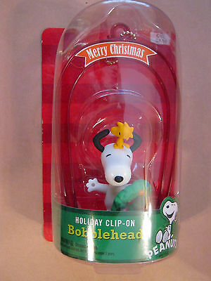 Peanuts Snoopy And Woodstock Clip On Merry Christmas Ornament New