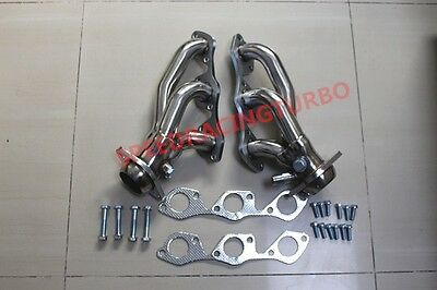 97-04 Ford F150/heritage Truck 4.2 V6 Ohv Stainless Exhaust Manifold Header+Bolt