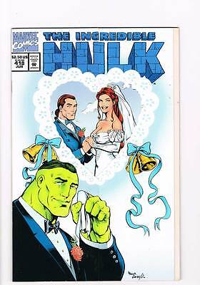 Incredible Hulk # 418 We Are Gathered Here ! Collectors grade 9.0 scarce book !!