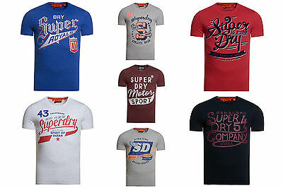 New Mens Superdry T-Shirts Selection; Various Styles & Colours
