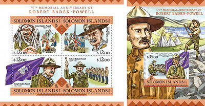Solomon Islands Baden-Powell Boy Scouts Scouting MNH stamp set 2 sheets