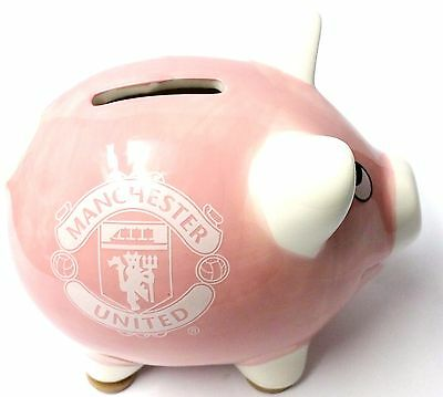 Manchester United Ceramic Piggy Bank Money Box Official Football Gifts