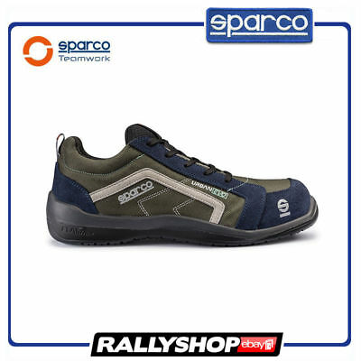 SPARCO URBAN EVO shoes Racing Boots Race Sport Rally Mechanics S1P Brown Blue