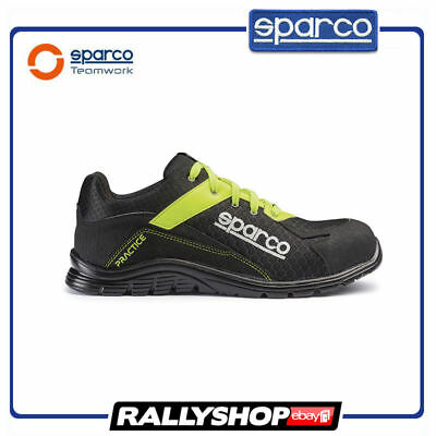 SPARCO PRACTICE shoes Racing Boots Race Sport Rally Mechanics S1P Black Yellow