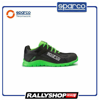 SPARCO PRACTICE shoes Racing Boots Race Sport Rally Mechanics S1P Black Green
