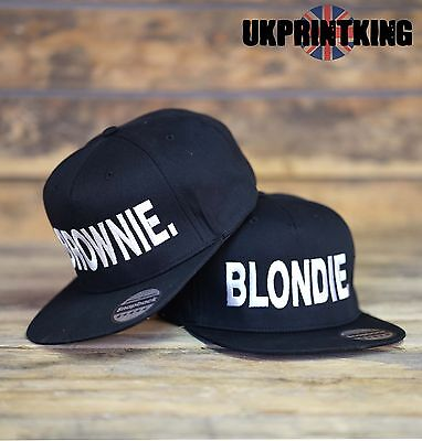 720ac2f1f BLONDIE AND BROWNIE Snapback Pair Fashion Embroidered Rapper Caps Hip-Hop  Hats