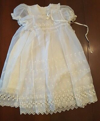 Phyllis Baby Wear Ivory Vintage Christening Gown 6-12 mos? 2 piece
