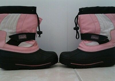 Girls PINK & BLACK CHILL WINTER BOOTS SIZE 1