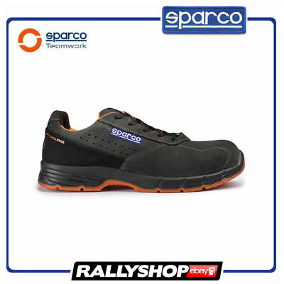 SPARCO CHALLENGE shoes Racing Boots Race Leather Rally Mechanics S1P Dark Grey