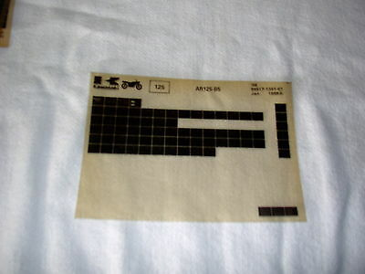 Kawasaki Ar125  Ar 125 B5  Gen Part Catalogue Microfiche