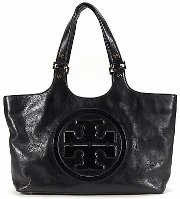TORY BURCH Authentic Black Leather Tote Shoulder Bag