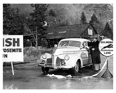 1939 Pontiac ORIGINAL Factory Gilmore Yosemite Photo oub3070