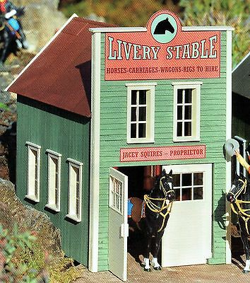 PIKO RIVER CITY LIVERY STABLE  G Scale Preassembled Building #62714 New