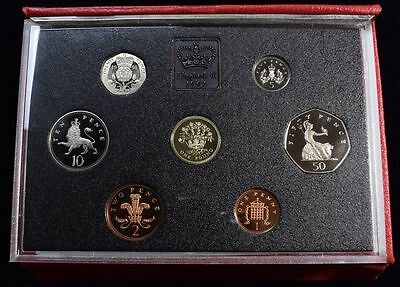1991 United Kingdom Deluxe Proof Set in Original Leather Presentation Case.