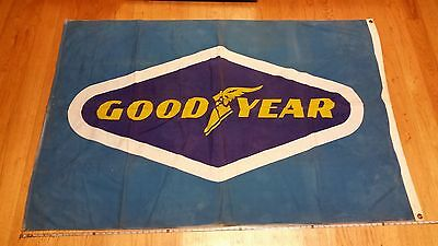 Vintage Goodyear Tire Flag 6ft x 4ft 100% Cotton Adverstising Banner Sign Auto