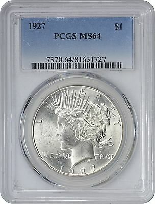 1927 Peace Dollar MS64 PCGS Mint State 64