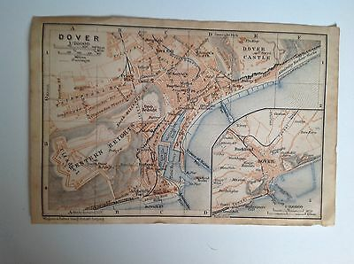 Dover Antique Street Map 1906, Kent, England, Atlas