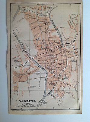 Worcester Antique Street Map 1906, Worcestershire, England, Atlas