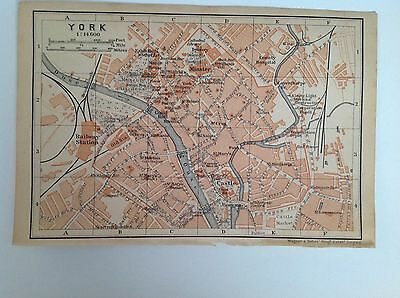 York Antique Street Map 1906, Railways, Yorkshire, Atlas