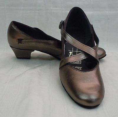 NIB!! Tic Tac Toes Grace Square Dance Shoe, Pewter