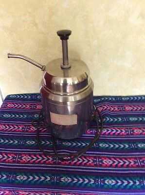 Metal Navho Cheese Condiment Pump Dispenser Unit Working And Clean