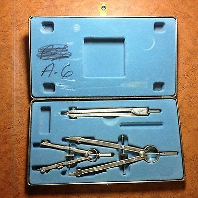 Vintage set DIETZGEN drafting compass GERMANY + TELEDYNE  POST and divider