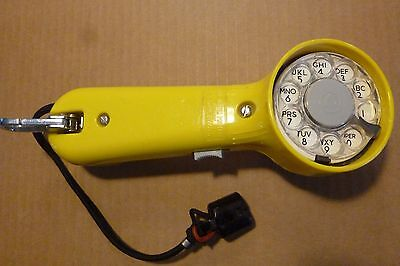 Vintage Bell System/WE Lineman's Test/Butt Set Rotary Dial Yellow