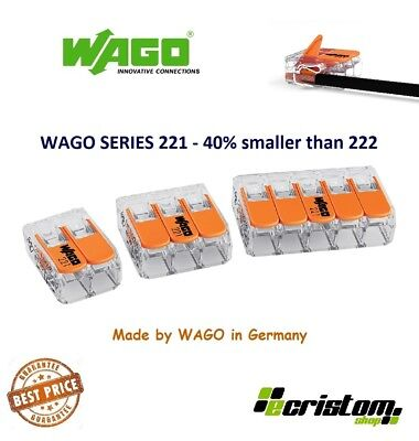 Wago 221 Series 221-412 221-413 221-415 New Style Connectors Electrical clamp UK
