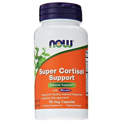 NEW Now Foods Super Cortisol Adrenal Support 90 Veg Capsules Manage Stress