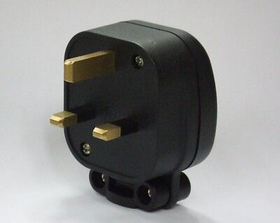 MS HD Power MS 328 13A UK Mains Plug - Unplated