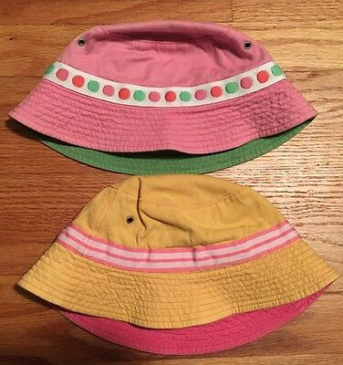 Hanna Andersson Girls Bucket Hats (2 Hats)  - Size S
